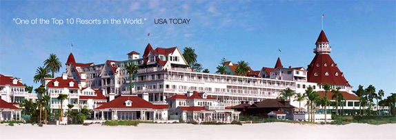 The Legendary Hotel Del Coronado Is Located On 28 Oceanfront Acres Island Built In 1888 And Designated A National Historic Landmark 1977