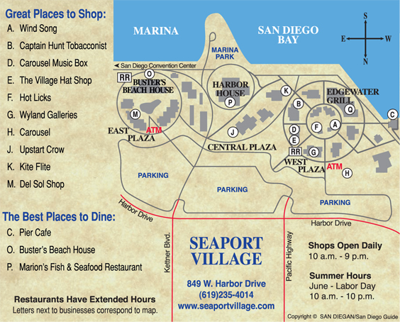 Seaport Village Is A Bay Front Ping Dining Extravaganza At The Embarcadero In Downtown San Gan